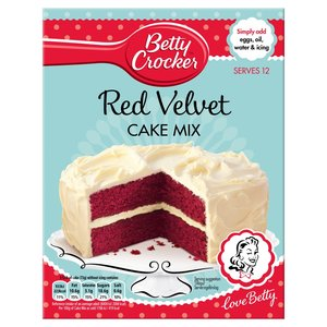 BETTY CROCKER PREPARATO PER LA TORTA DI VELLUTO ROSSO 450G