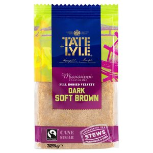 TATE + LYLE FAIRTRADE DARK BROWN SOFT SUGAR 500G