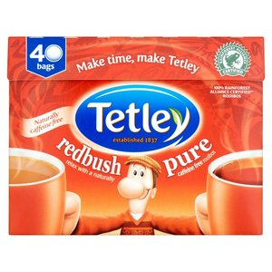 TETLEY REDBUSH 40 TEA BAGS 100G