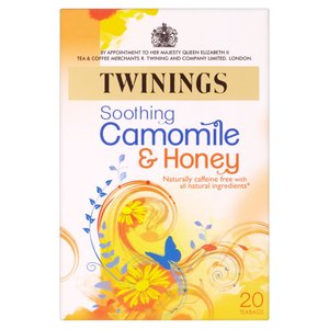 TWININGS CAMOMILE & HONEY HERBAL TEA 20S