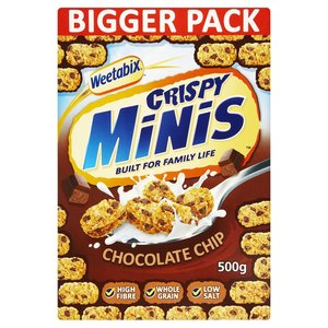 WEETABIX MINIS W CHOCOLATE CHIPS 600g